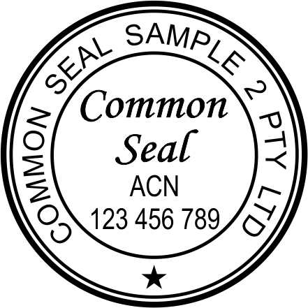 Common Seal Stamp CS2