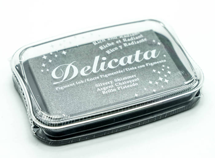 Delicata Stamp Pad Shimmery Silver